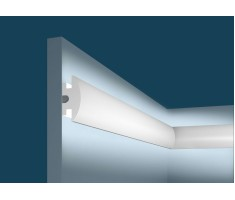 Молдинг для скрытого освещения MX010, 55х25