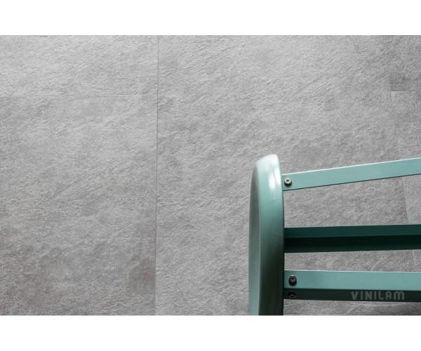 Виниловая плитка Vinilam Ceramo Цемент 61609 клеевая