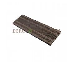 Террасная доска Derevoplast (150*23,5*4000) Венге пустотелая, бесшовная 1-008