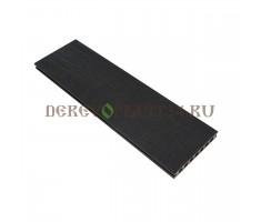 Террасная доска Derevoplast (150*23,5*4000) Венге пустотелая, шовная, Резина 1-021