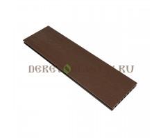 Террасная доска Derevoplast (150*23,5*4000) Коричневая пустотелая, шовная, Резина 1-021
