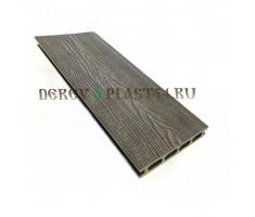 Террасная доска Derevoplast (149*23,5*4000) Венге пустотелая, шовная, с 3D-тиснением 1-031
